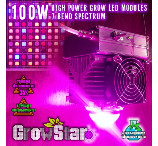Grow LED Lamp 100 W 7 BS фото