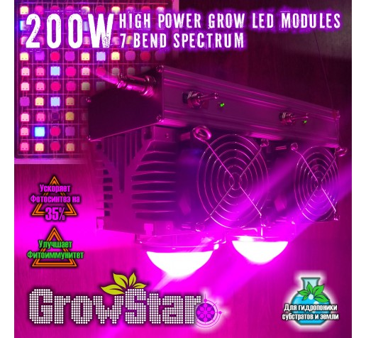 Grow LED Lamp 200 W 7 б-у фото