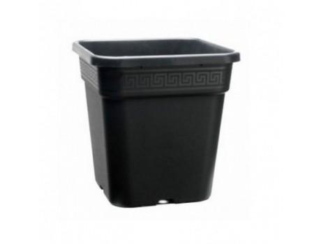 Горшки пластиковый 23 л квадратное черное герметичное купить в Украине фото