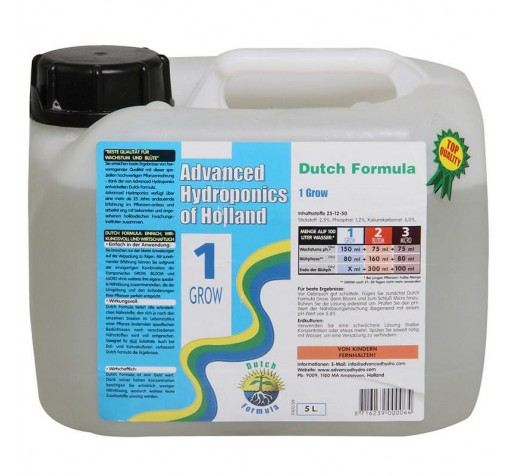 Dutch Formula Grow 5 ltr Advanced Hydroponics Netherlands фото