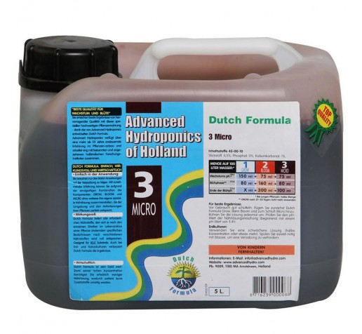 Dutch Formula Micro 5 ltr Advanced Hydroponics Netherlands фото